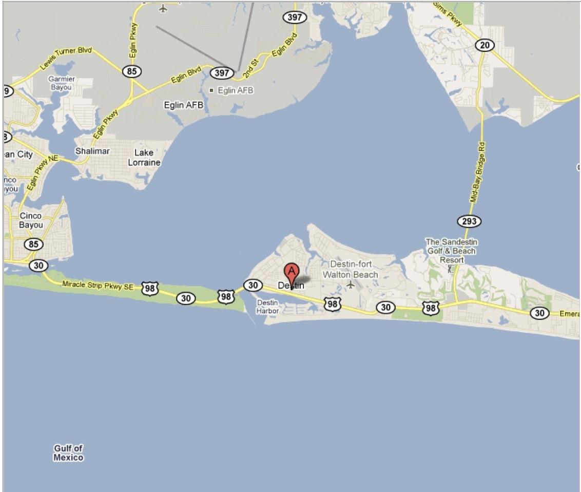 Destin Florida Map Destin Florida on Map